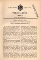 Original Patentschrift - A. Aberg In Görtz / Gorizia , 1897 , Sortierer Für Papier Und Zellstoff !!! - Macchine