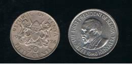 KENYA -  50 Cents  KM13 -  1978 - Kenia