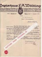 Brief 1915 - LEIPZIG - PAPIERHAUS  F.A. MÖLBLING - Imprimerie & Papeterie