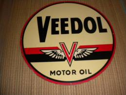 "Plaque En Tôle       Veedol   ""Motor Oil"" - Autres"