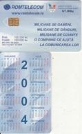 ROMANIA(chip) - Romanian Olympic Committee, Calendar 2004, 03/04, Used - Romania