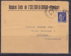 FRANCE LETTRE AVEC 65C TYPE PAIX  A DESTINATION DE PERPIGNAN   AU DOS 1 VIGNETTE  COMITE NATIONAL CONTRE LA TUBERCULOSE - Frankreich