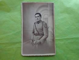 Carte Photo Militaire En Studio N°11-sabre - Guerra, Militari