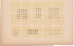 SI53D Italia Italy PARMA 80 C. 1859 FALSI SPIRO FORGERY FALSH OLD ITALIAN STATES Blocco Di 15 - Parma