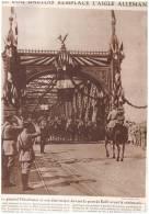 GUERRE 14-18 LE PONT DE KEHL   GENERAL   HIRSCHAUER  +LE NAUFRAGE GOLIATH COTE SENEGAL - Vieux Papiers