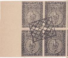 SI53D Italia Italy PARMA 10 C. 1852 FALSI SPIRO FORGERY FALSH OLD ITALIAN STATES Quartina - Parma