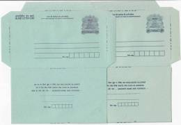 India 2 Diff., Type Of R1.00  Ship, CSP & MSP, Postal Stationery  Unused Inland Letter - Inland Letter Cards
