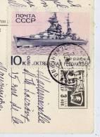 URSS--1970--timbre Bateau  Sur Carte Postale--bateau De Guerre Soviétique-- - 1923-1991 USSR