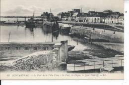 CONCARNEAU - Le Pont De La Ville Close - Le Port, La Digue, Le Quai Pénéroff - Concarneau