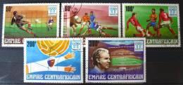 Empire Centrafricain 1977: Série YT 315/319 Oblitérée - Coupe Du Monde De Football 1978 Argentina - Zentralafrik. Republik