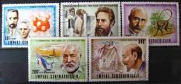 Empire Centrafricain 1977: Série YT 267/268 + YT Aérien 156/158 Oblitérée - Lauréats Du Prix Nobel - Zentralafrik. Republik