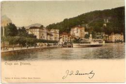 GRUSS Aus BRUNNEN ++++++ Venise, Italie Vers MINNEAPOLIS, MN, USA, 1904 ++++++ M. Steiner, Coiffeur Bazar, Brunnen +++ - SZ Schwyz