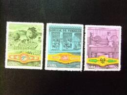 CUBA 1970 PLANTACIONES De TABACO FABRICA EMBALAJE Yvert 1414 / 1416 º FU - Tabaco