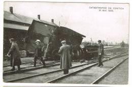 "Postkaart / Carte Postale ""Kontich / Contich - Catastrophe 21 Mai 1908"" - Kontich"