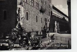 FONTANA DEL NETTUNO E STATUE IN PIAZZA SIGNORIA  OHL - Firenze (Florence)