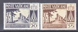 Vatican  185-6   * - Unused Stamps