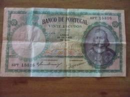 20 ESCUDOS   ANNEE  1954 - Portugal