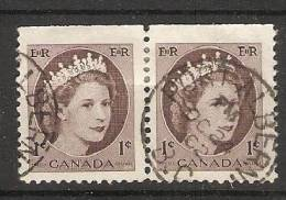Canada  1954-62  Queen Elizabeth II (o) 1c - Single Stamps