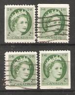 Canada  1954-62  Queen Elizabeth II (o) 2c - Carnets