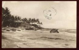 Cpa  De Ceylan Sri Lanka Columbo Mount Lavinia Hotel And Sea Shore     EUG28 - Sri Lanka (Ceylon)