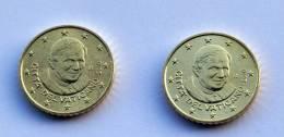 VATICAN - 2 COINS 50 CENT YEAR 2010 - Vaticaanstad