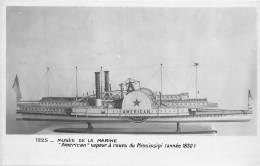 """Bâteau """"Américain"""" Vapeur à Rous Du Missipi (année 1830) N° 1225 - CPA En Très Bel Etat  ( Voir 2 Scans) - Etats-Unis"""