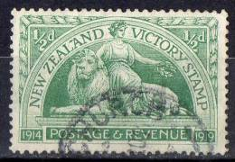 New Zealand 1920 Victory 1/2d Green Used - SG 453 - 1907-1947 Dominion
