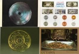 4 CP Reproductions De Pièces De Monnaie Et Billets De Banque . ...(52892) - Monnaies (représentations)