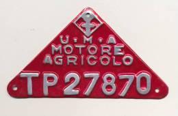 SPLENDIDA TARGA U.M.A. MOTORE AGRICOLO TP27870 DOPO GUERRA - Non Classificati