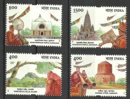 INDIA, 2002,  Buddha, Bauddha  Mahotsav Festival, Set 4 V,  MNH, (**) - Buddhism