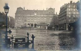 PARIS - INONDATIONS CRUE DE 1910 - COURS DE ROME GARE ST-LAZARE - SUPERBE CARTE PHOTO - Arrondissement: 08