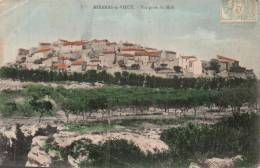 13 MIRAMAS LE VIEUX VUE PRISE DU MIDI CIRCULEE 1906 - Francia