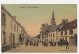 56-GUIDEL-Rue De Lorient Animé Commerces....1910 - Guidel