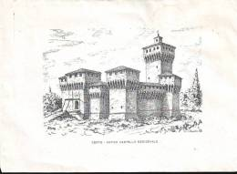 Cento, Antico Castello Medioevale, Busta Ill. Da Vittorio Agostini - Vecchi Documenti