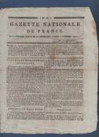 GAZETTE NATIONALE DE FRANCE 12 12 1795 RHIN JOURDAN - CHOUANS - BORDEAUX - COLLOT BILLAUD BABEUF - ANARCHISTES - EMPRUNT - Giornali - Ante 1800