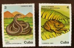 CUBA: Grenouilles, Frog. + Serpent ( Yvert 2577/78) Neufs Sans Charniere. MNH - Grenouilles