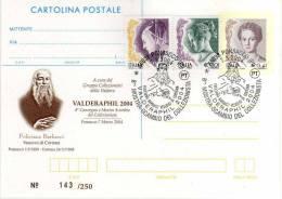 Italy 2004 Cancel Ponsacco Valderaphil Feliciano Barbacci Vescovo Di Cortona Su Cartolina Postale Ristampata - Christendom