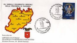 Italy 1995 Cancel Piacenza La Via Francigena Pellegrini E Templari - Christendom