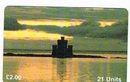 ISLE OF MAN - MANX TELECOM CHIP - 1995 TOWER OF REFUGE, DOUGLAS (LLOYDS BANK)   -  (USED) CODE IOM3 - RIF. 7749 - Isola Di Man