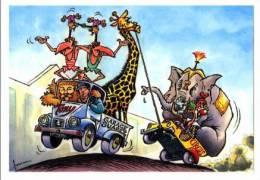 CIRQUE - GARAGE TONY SUAREZ ET SON EQUIPE - DEPANNEUSE AVEC ANIMAUX DU CIRQUE - LA PLUME ET LE CRAYON (2004) - Circus
