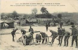 Guerre 1914-18- Ref G188-mise En Position D Un Obusier Francais  -carte Bon Etat   - - Ausrüstung