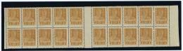 Russia 1923 Mi VC  Not Issued, Nicht Ausgegeben, 1 R Braun Ocker, MNH/** Part Sheet, With Separator, RRR