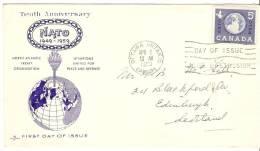 Canada  1959  10th Ann. Of N.A.T.O. (o) FDC - 1952-1960
