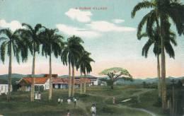 ( CPA CUBA )  A CUBAN VILLAGE  / - Postcards