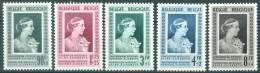 BELGIUM - 1951 - MNH/***- LUXE - 75TH ANNIV ELISABETH MEDICAL FUNDATION - COB 863-867 - Lot 7528