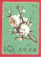 CINA - CHINA - R.P.P.  - USATO - 1975 - FIORI - FLOWERS - VERDE 10 - Usati
