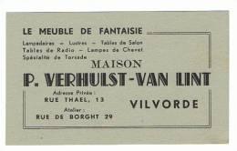 Carte De Visite - Meubelen - Meubles - Maison P. Verhulst-Van Lint - VILVOORDE - VILVORDE (k) - Cartes De Visite