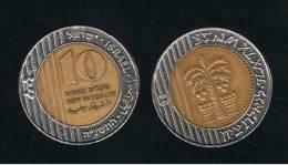 ISRAEL -  10 New Sheqalim  KM270  Bimetal - Israel