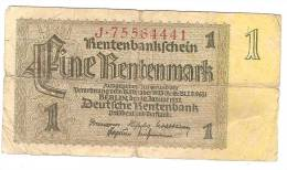 1 Rentenmark 30 Janvier 1937 - Monnaies & Billets