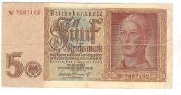 5 Rentenmark 1° Août 1942 - Monnaies & Billets